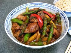 Duck Soup Easy: Chicken and Asparagus Black Bean Stir Fry