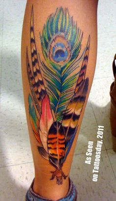 Hawaiian feathers tattoo