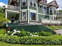 Peonies in bloom at Greenville Inn #mooseheadlake #peonies #Maine #ItMustBeMaine #MaineThing