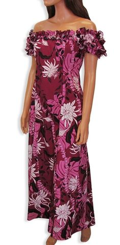 Hawaiian muumuu long dresses