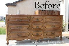 Vintage Dresser into Media Center - No. 2 Pencil