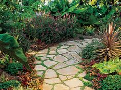 How to lay a flagstone path | Sunset