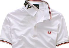 Quality Goods Fred Perry Men's Lapel Series Polo Shirt White Red
