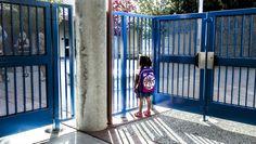 O primeiro dia de escola de umacriança