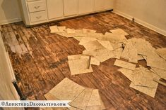 Floor boards underneath vinyl tile - possible asbestos tile & Removing asbestos tile | Asbestos Disposal | Pinterest