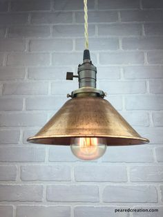 dining nook? Copper Shade Pendant - Industrial Pendant Light - Ceiling Light - Industrial Lighting - Edison Bulb Pendant Lamp $115