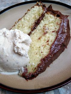 Browned Butter Cake with Cinnamon Chocolate Frosting