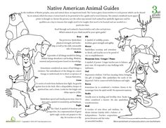 Spirit Animal Meanings | ... http://www.education.com/worksheet/article/native-american-animal-g