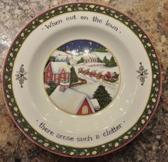 Susan Winget A Christmas Story Salad Plate 8\