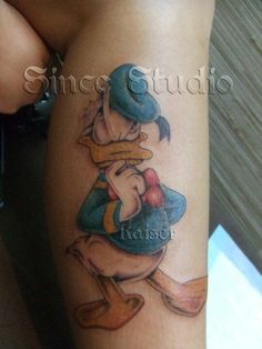 Donald Duck tattoo.....  tattoo by Kaiser@Since Studio Hong Kong