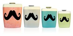 From DetailsonDemand: Set of 4 Assorted Mustache Labels Chalkboard Stickers write on vinyl