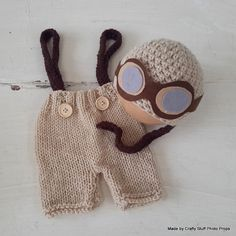 Sombrero de aviador de bebé recién nacido por CraftyStuffBabyHats