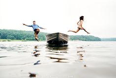 This is an image that takes a certain #couple Amazing work by Hoffer as usual!  Amy & Matt jump into Marsh Creek