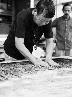 Kyoko Ibe Pulp Painting, describes process