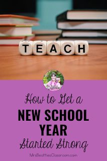 Heading back to school to begin a new school year is a time to improve your past teaching practices and establish routines and expectations for your new students. This blog post includes resources, ideas, and freebies for getting your new school year started strong. New School Year, Back To School, Parent Open House, Teacher Organization, A Classroom, New Students, Free Tips, Classroom Management, Teaching Resources