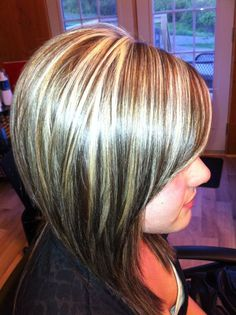 foiling dark hair | All Over Color With Blonde...