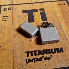 In 2001 we launched a Zippo lighter made of Grade One commercially pure #Titanium. Should we re-release it?