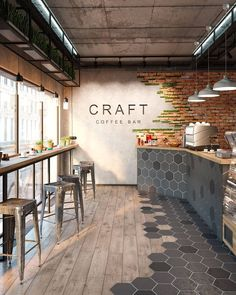 58 Ideas Industrial Lighting Cafe Restaurant Design For 2019 Café Design, House Design, Design Ideas, Design Shop, Bar Designs, Floor Design, Tile Design, Sport Bar Design, Bakery Shop Design