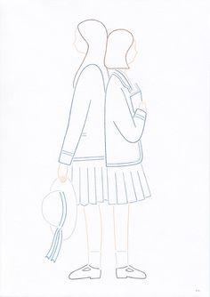 Emi Ueoka 'Secret' - A greeting card illustration for Tokyo based design agency Kitchen Sink.