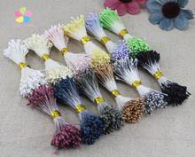 600pcs/1200pcs 1mm Matte double heads flower stamen pistil cake decoration craft DIY 002010014