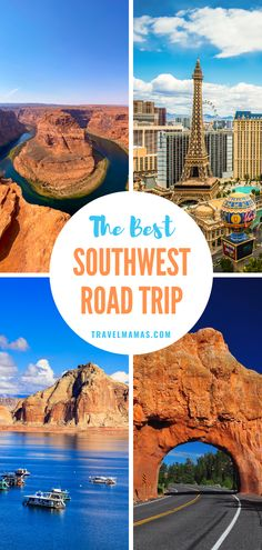 Plan the best road trip in the American Southwest with these tips and adjustable itinerary. Drive from Phoenix to the Grand Canyon, Antelope Canyon, Lake Powell, Bryce Canyon, Zion National Park and Las Vegas. There's something for everyone to enjoy on this journey from relaxing nature exploration and adrenaline-pumping activities to the glitz of Vegas! #southwest #roadtrip #nationalparks Road Trip With Kids, Family Road Trips, Travel With Kids, Family Travel, Canyon Lake, Bryce Canyon, Grand Canyon, Family Vacation Destinations, Cruise Vacation