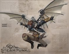 """steampunktendencies: """"Kai Art """" Thought this was cool! Steampunk Kunst, Steampunk Artwork, Steampunk Airship, Steampunk Weapons, Dieselpunk, Fantasy Character Design, Character Design Inspiration, Character Concept, Character Art"""