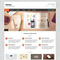 Pytheas is a Free WordPress theme for corporate and portfolio sites created by WPExplorer. 100% GPL. Enjoy!