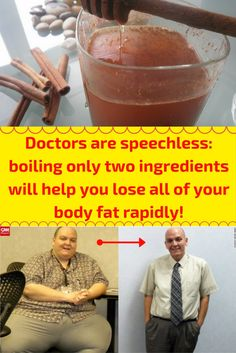 Doctors Are At A Loss For Words: Boiling Just Two Ingredients You Will Rapidly Lose All Of Your Body Fat!