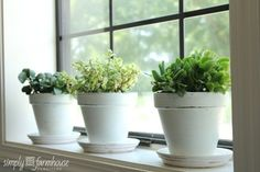 Simply Farmhouse/Don't forget to add natural and green items to the mix. Small plants, herbs, etc are simple and beautiful!