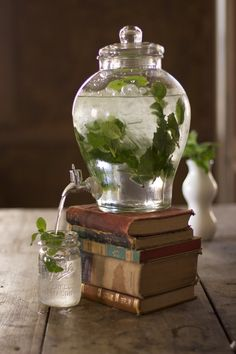 Drink station - Use books to raise juice dispenser                                                                                                                                                                                 More