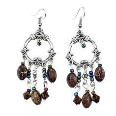 ER373 Ethnic Antique Silver Color Bohemia Colorful Vintage Earrings For Women Lady 2015 New Jewelry Bijouterie