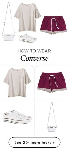 """M"" by butnotperfect on Polyvore featuring H&M, Uniqlo, Converse and Miss Selfridge"