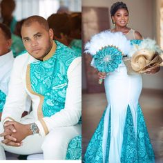 Ghana Traditional Wedding, African Traditional Wedding Dress, African Fashion Skirts, African Dresses For Women, African Wedding Attire, African Attire, Couples African Outfits, Lace Dress Styles, Wedding Dress Shopping
