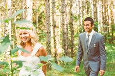 First Look Love: Whimsical Woodsy Wedding