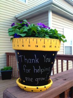 Thank You For Helping Me Grow Flowerpot - less than $10!
