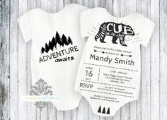 Woodland Baby Shower Invitation  A Little Cub Is On The Way