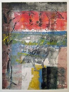 Crows and Color  by Tonya Vollertsen  (Monotype)
