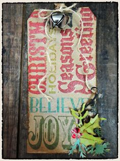 12 tags of christmas...tag 3 by Tim Holtz