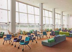 Rem Koolhaas en Hella Jongerius slaan handen ineen voor herinrichting Delegates' Lounge     roomed.nl