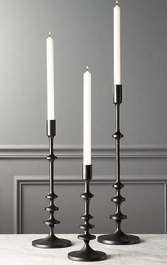 Allis Black Taper Candle Holders Set of Candle Holders, Modern Candle Holders, Taper Candle Holders, Black Candles, Black Candlesticks, Selling Candles, Candle Stick Decor, Modern Candles, Candle Holder Set
