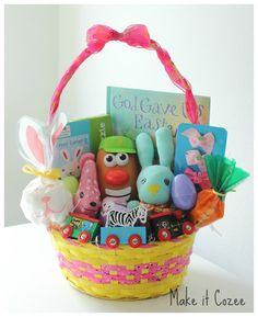 Ideas for Toddler Easter Basket, tutorials for toddler leg warmers and sock bunny