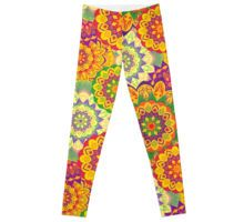 Leggings. mandala, eastern, chakra, sacred, round, flower, stylized, red, orange, green, multi colored, bright, colorful, traditional, petals, spirituality, spiritual development, health improvement, energy, positive, beautiful, boho, celebration, exotic, folk, hippie, indian, invitation, meadow, mehndi, nature, oriental, ornamental, rich, rim, rustic, scarlet, soft, spices, spiritual, stylish, swirls, tibetan, tribal, tribe, wedding, yellow
