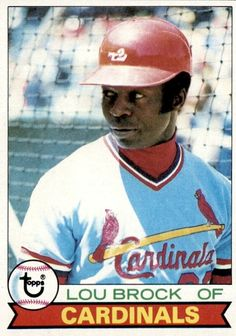 1979 Topps Lou Brock (Hall of Fame).on Lou Brock stole base breaking Billy Hamilton's record.which had stood since Cardinals Baseball, St Louis Cardinals, Baseball Card Values, Baseball Cards, Famous Baseball Players, St Louis Baseball, Sports Personality, Baseball Pictures, One Team