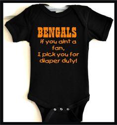 14 Best Cincinnati Bengals Baby Fun images | Cincinnati Bengals