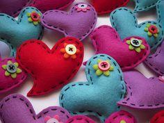 Cute sewn hearts