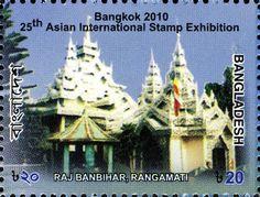 Stamp: Raj Banbihar (Buddhist Monastery), Rangamati, Bangladesh (Bangladesh) (Bangkok 2010 International Stamp Exhibition) Mi:BD 1014A,Sn:BD 770a,WAD:BD030.10