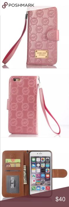 NWT MICHAEL KORS FLIP PHONE CASE FOR IPHONE 7 PLUS NET MICHAEL KORS FOR IPHONE 7 PLUS IN EMBOSSED PATENT PINK BALLET YOUR ALL IN ONE PORTABILITY IT HAS SLOTS FOR CARDS AND ID, SLIP POCKET FOR CASH MAGNETIC CLOSURE PLZ SEE EMAIL IN PICS FROM MICHAEL KORS SUPPORT ITS 100% AUTHENTIC MICHAEL Michael Kors Accessories Phone Cases