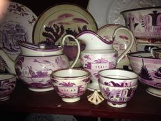 Pink lusterware.