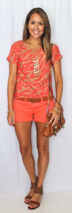 J's Everyday Fashion: Coral Monochrom Outfit