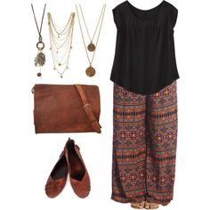 Plus size bohemian textures and layers., created by hamtowntracey on Polyvore